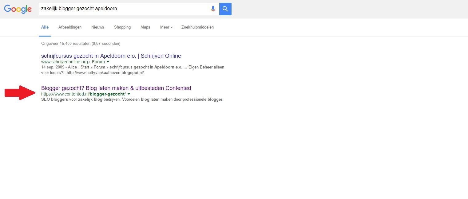 Zoekresultaat Google blogger gezocht - Contented blogt