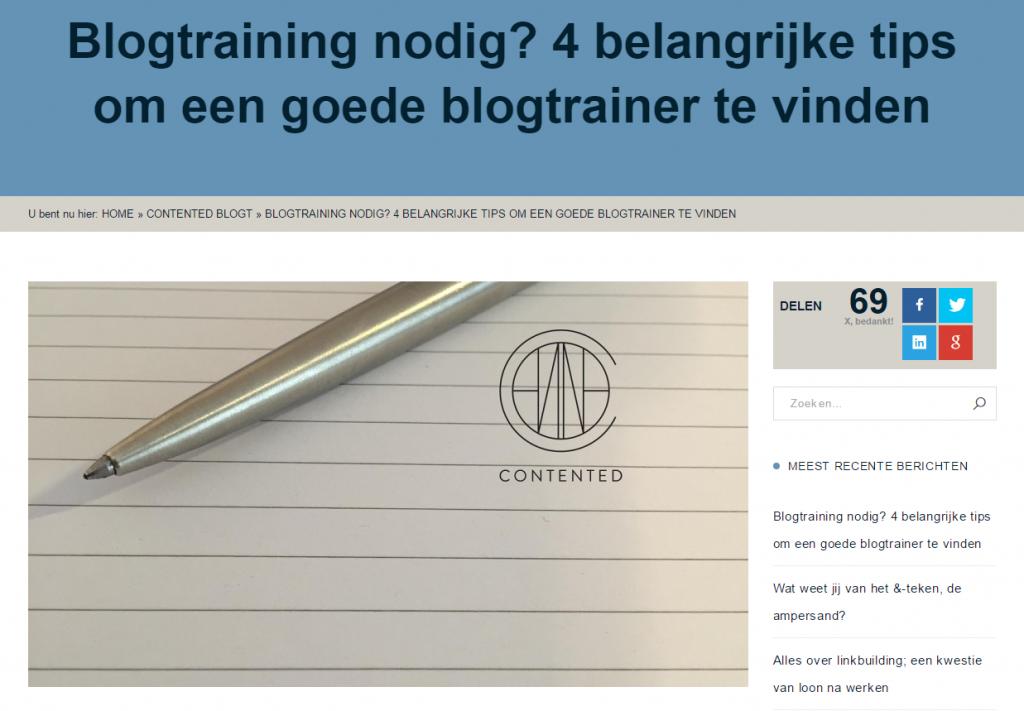 Blogtrainer_nodig_gezocht_Contented