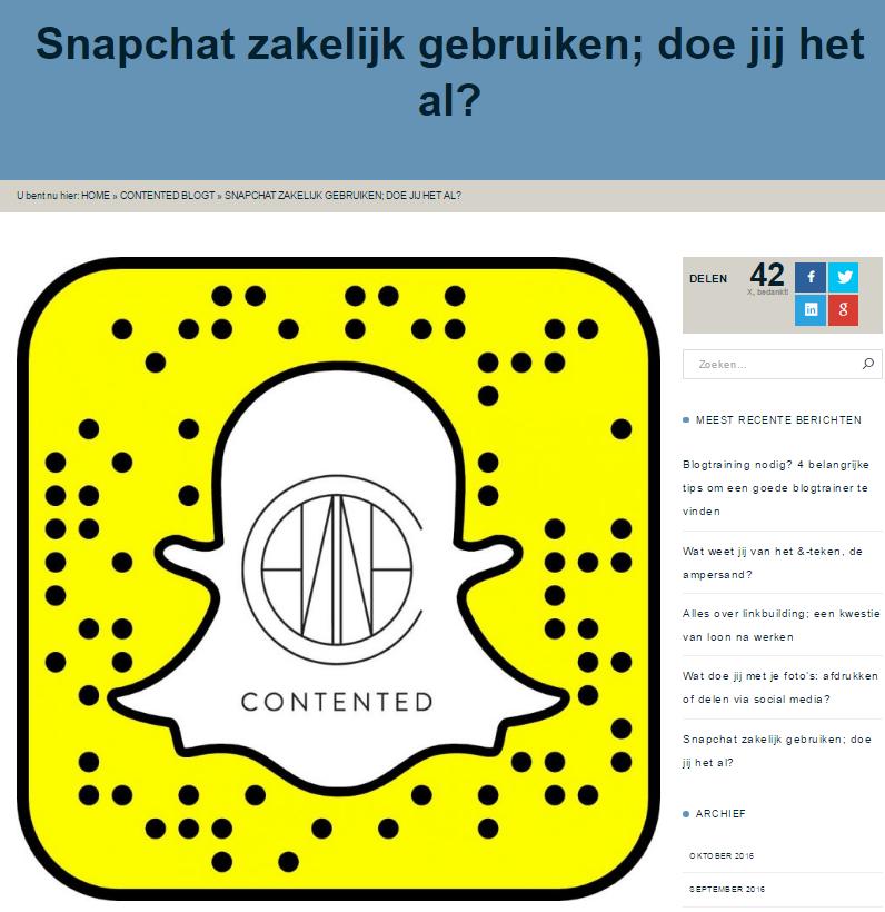 Snapchat_zakelijk_gebruiken_Contented